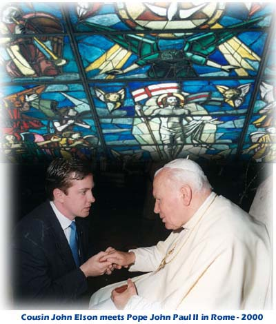 Cousin John meets Pope John Paul II Rome 2000